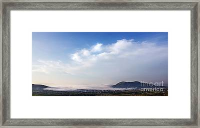 Town From Above Framed Print