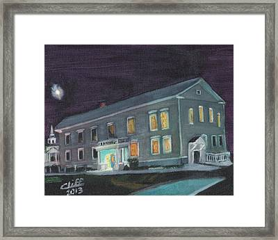 Town Hall At Night Framed Print