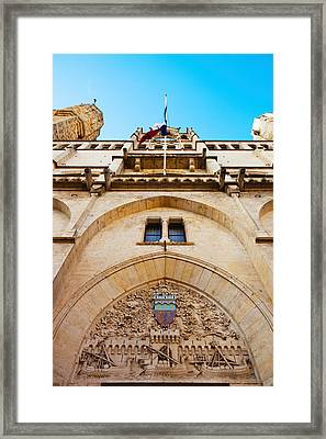 Town Hall At Place De Lhotel De Ville Framed Print by Panoramic Images