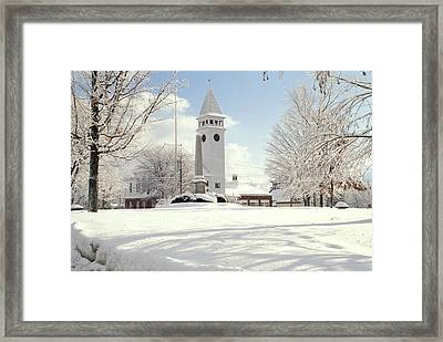 Town Hall Hollis Nh Framed Print by Gail Maloney