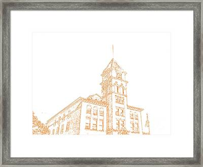 Framed Print featuring the photograph Town Hall Lancaster Ny by Jim Lepard