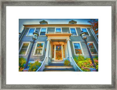 Town House Nantucket And Two Lamps 001 Framed Print