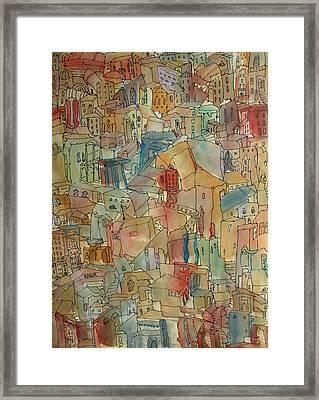 Town I Framed Print by Oscar Penalber
