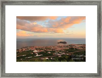 Town In Azores Framed Print by Gaspar Avila