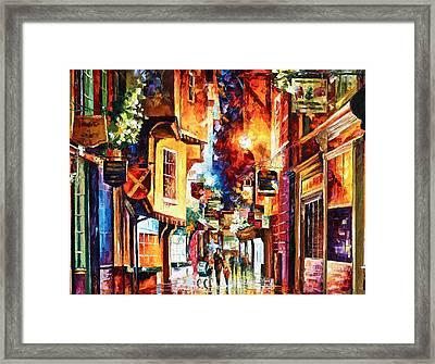 Town In England Framed Print by Leonid Afremov
