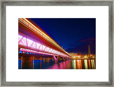 Town Lake Reflections Framed Print