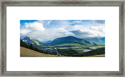Town Of Banff In The Bow Valley Framed Print