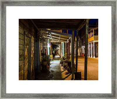 Town Of Locke Framed Print by Mike Ronnebeck