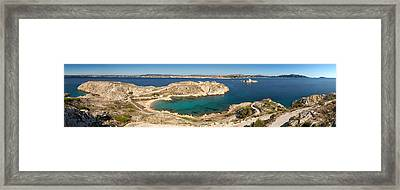 Town Of Marseille In The Background Framed Print by Panoramic Images