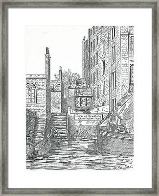 Town Of Ramsgate Wapping From The River Framed Print by Mackenzie Moulton