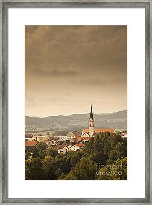 Town Of Schonberg Lower Bavaria Germany Europe Framed Print