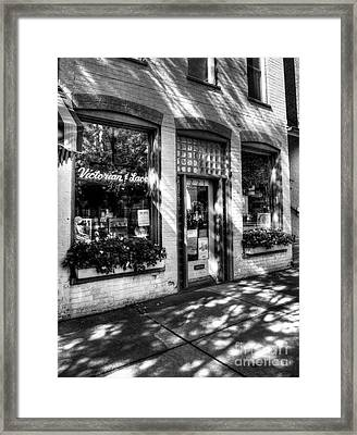 Town Of The Rising Sun 3 Bw Framed Print
