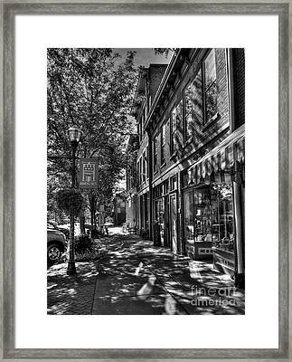 Town Of The Rising Sun Bw Framed Print by Mel Steinhauer