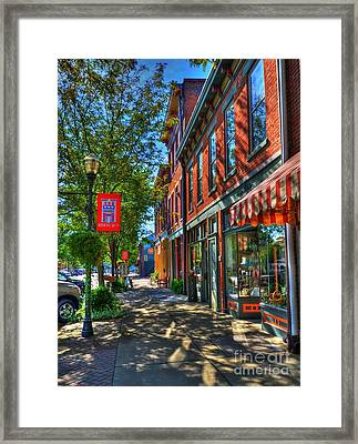 Town Of The Rising Sun Framed Print by Mel Steinhauer