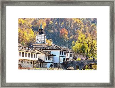 Town Of Tryavna Framed Print