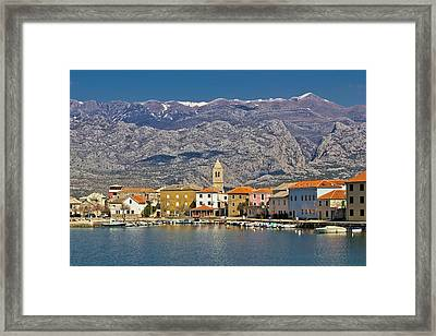 Town Of Vinjerac Waterfrot View Framed Print