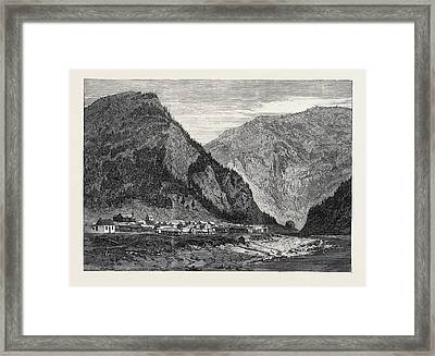 Town Of Yale British Columbia 1866 Framed Print