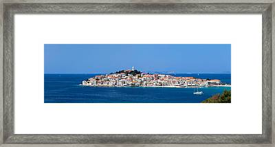 Town On A Coast, Primosten, Adriatic Framed Print by Panoramic Images