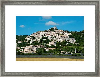 Town On A Hill, D51, Sault, Vaucluse Framed Print
