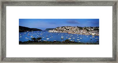 Town On An Island, Salcombe, South Framed Print