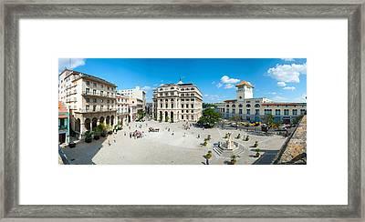 Town Square, Plaza De San Francisco Framed Print