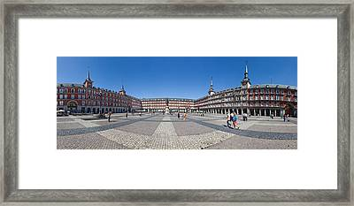 Town Square, Plaza Mayor, Madrid, Spain Framed Print by Panoramic Images