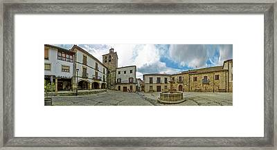 Town Square, Plaza Mayor Square, San Framed Print by Panoramic Images