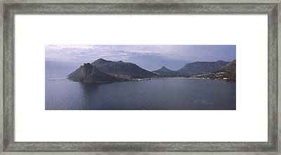Town Surrounded By Mountains, Hout Bay Framed Print by Panoramic Images