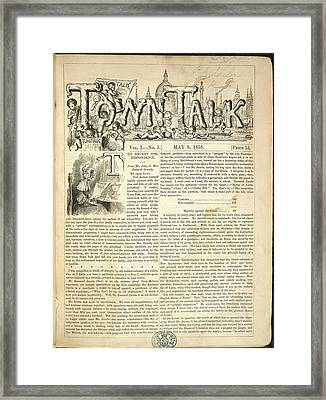 Town Talk Framed Print by British Library