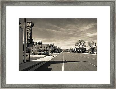 Town View Along U.s. Route 395 Framed Print