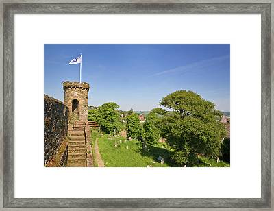 Town Walls Around The 13th Century Framed Print by Panoramic Images