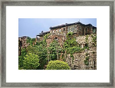 Town Walls Istanbul Framed Print