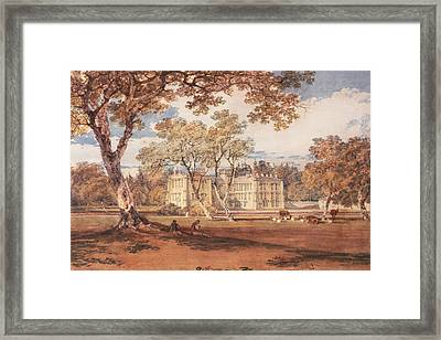 Towneley Hall, C.1798 Framed Print by Joseph Mallord William Turner
