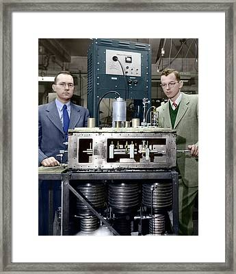 Townes-gordon-zeiger Maser Framed Print by Emilio Segre Visual Archives/american Institute Of Physics
