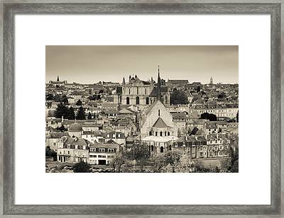 Townscape And Cathedrale St-pierre Framed Print by Panoramic Images