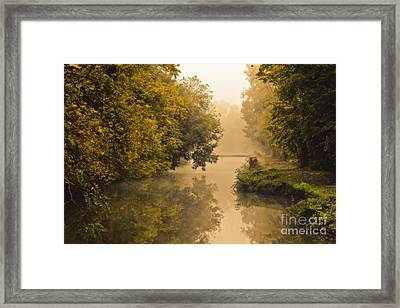 Towpath On The Champlain Canal Framed Print by Julie Palyswiat