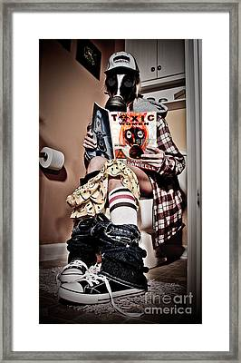 Toxic Bathroom Time Framed Print by Jt PhotoDesign