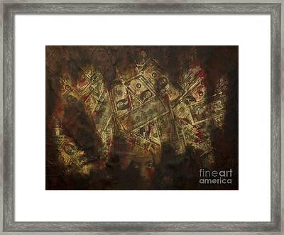 Toxic Greed Framed Print by Kamil Swiatek