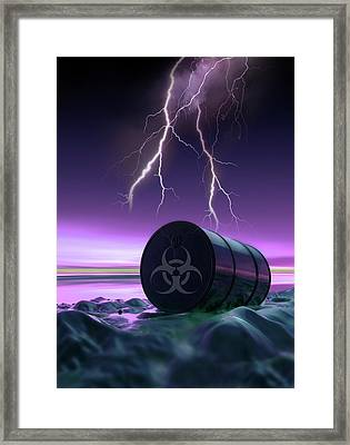 Toxic Waste Framed Print by Victor Habbick Visions