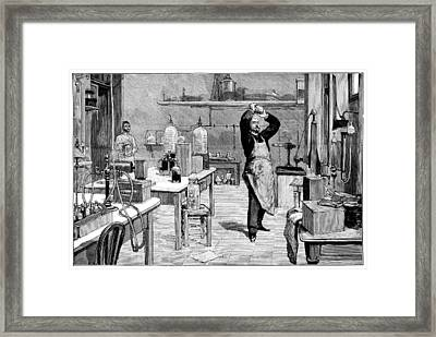 Toxicology Laboratory, 1893 Framed Print by Science Photo Library