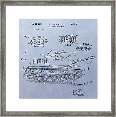 Toy Army Tank Patent Framed Print by Dan Sproul