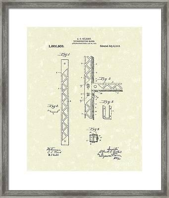 Toy Blocks 1913 Patent Art Framed Print