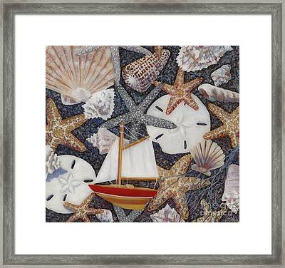 Toy Boat Framed Print by Danielle  Perry