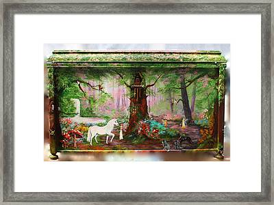Toy - Box Front View Framed Print by Jean Walker