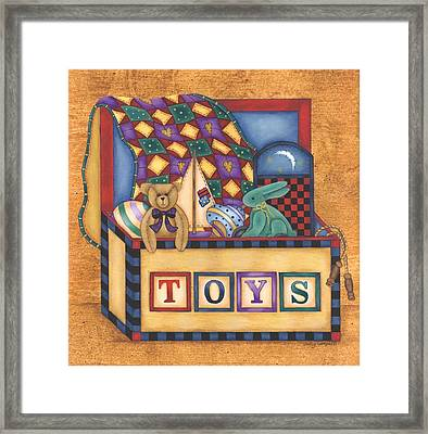 Toy Box Framed Print