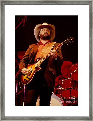 Toy Caldwell Of The Marshall Tucker Band At The Cow Palace Framed Print
