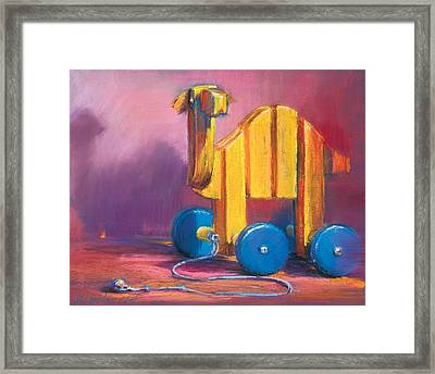 Toy Camel Framed Print by Beverly Amundson