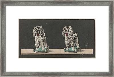 Toy, Dog On Wheels Framed Print