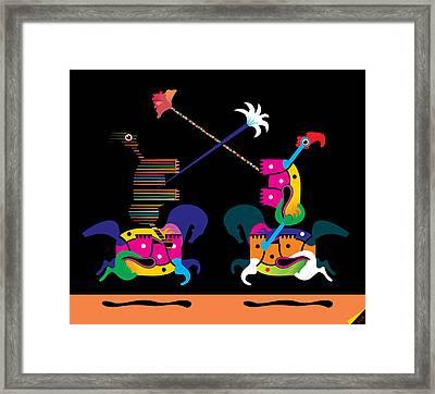 Toy Fight Framed Print by House Brasil