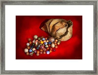 Toy - Found My Marbles Framed Print by Mike Savad